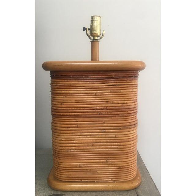 Vintage 1970s Gabriella Crespi Style Pencil Reed Table Lamp For Sale - Image 12 of 12