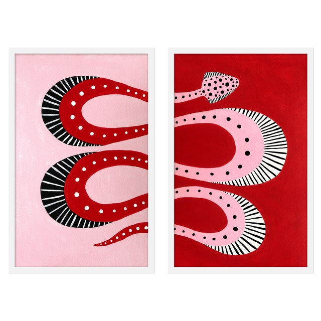 "Contemporary Medium ""Cherry Pop, Set of 2"" Print by Willa Heart, 40"" X 31"" For Sale - Image 3 of 3"
