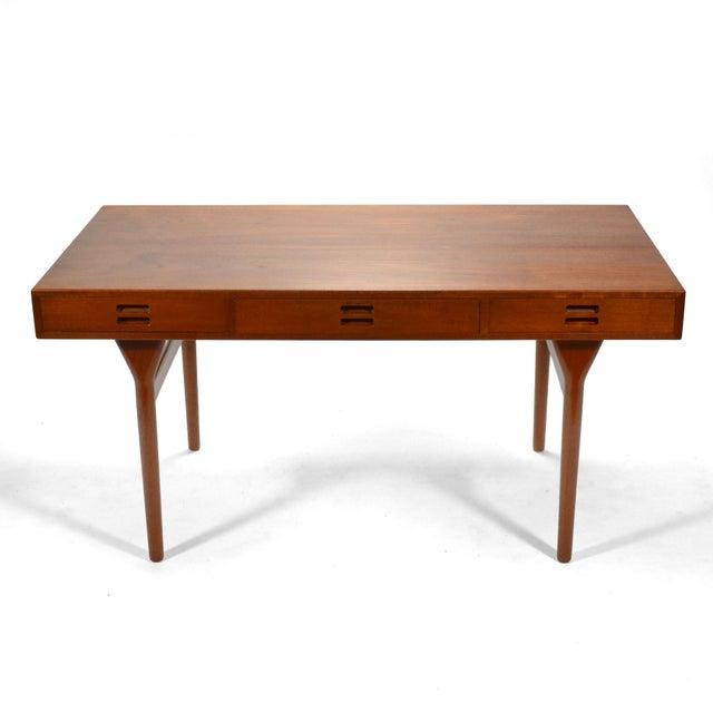 Danish Modern Nanna Ditzel & Jørgen Ditzel Three-Drawer Teak Desk For Sale - Image 3 of 10