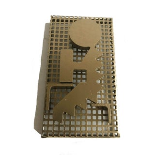 Modernist Perforated Metal Art Sculpture For Sale