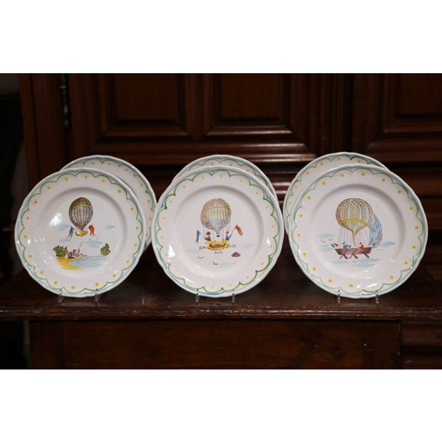 Decorate a kitchen wall or fill up a decorative hutch with this beautiful set of hand painted, ceramic plates. Crafted...
