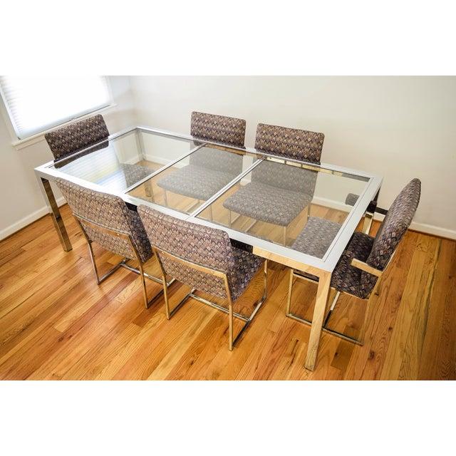 Mid-Century Modern Mid-Century Dia Milo Baughman Dining Set For Sale - Image 3 of 11