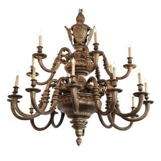 Massive Gilt Bronze American Baroque Style Chandelier For Sale