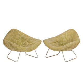 1970s Vintage Harry Bertoia for Knoll Diamond Chairs-A Pair For Sale