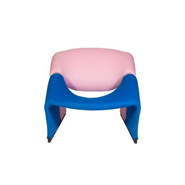 Pierre Paulin Oscar De La Renta Cashmere Upholstered Chairs & Ottomans- 4 Pieces - Image 2 of 10
