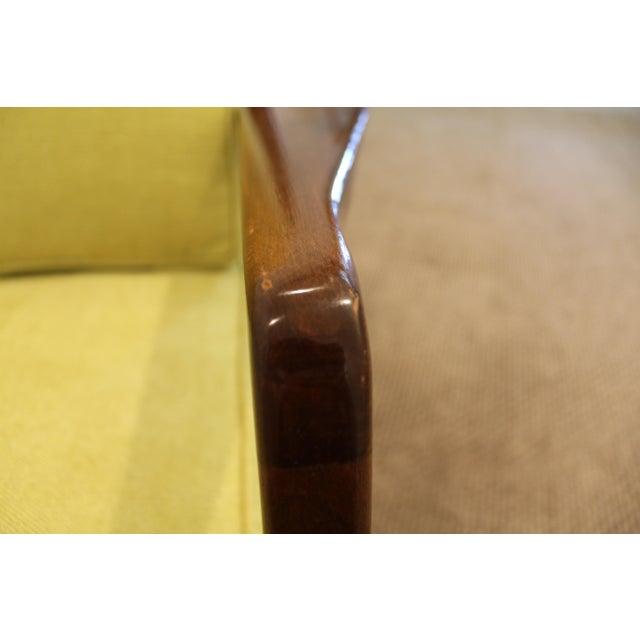 Mid-Century Danish Modern 'Citron' Walnut Open Arm Lounge Chair - Image 9 of 11