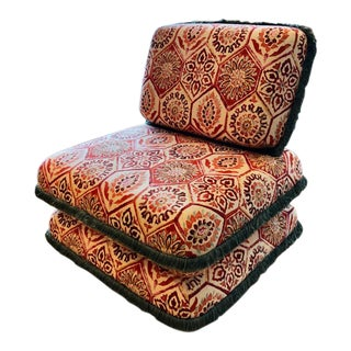 Moroccan Inspired Lounge Chair For Sale