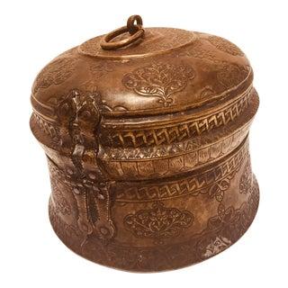 Copper Betel Nut Lidded Trinket Box