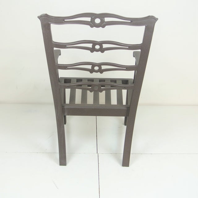 Metal Arlington Dining Chair & Custom Fit Cushion For Sale - Image 7 of 9