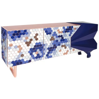 Honeycomb Blue Sideboard Royal Stranger For Sale