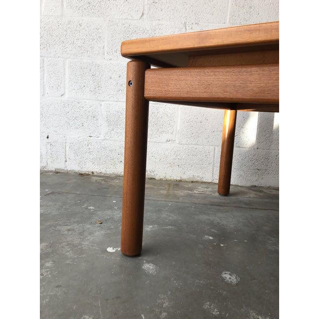 Vintage Mid Century Danish Modern Teak Side Table by Trioh Mobler Denmark For Sale In Miami - Image 6 of 11