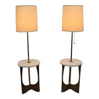 Mid Century Modern pair of floor lamps
