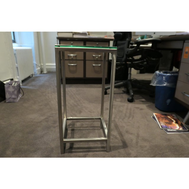 Modern Glass Side Table with steel framing