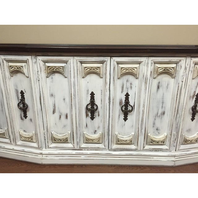 Distressed Wooden Sideboard Buffet - Image 5 of 9