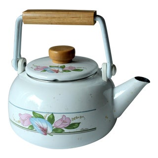 Enameled Tea Kettle, 1970s For Sale