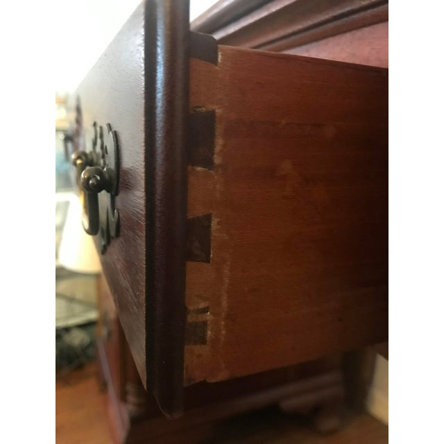 1950s 1950s Traditional Kling Furniture Co Solid Mahogany Desk For Sale - Image 5 of 10