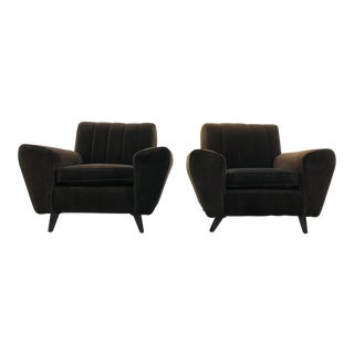 1930s Original French Art Deco Club Chairs - a Pair For Sale