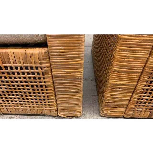 Mid 20th Century Pair, Mid Century Cube Chairs For Sale - Image 5 of 9