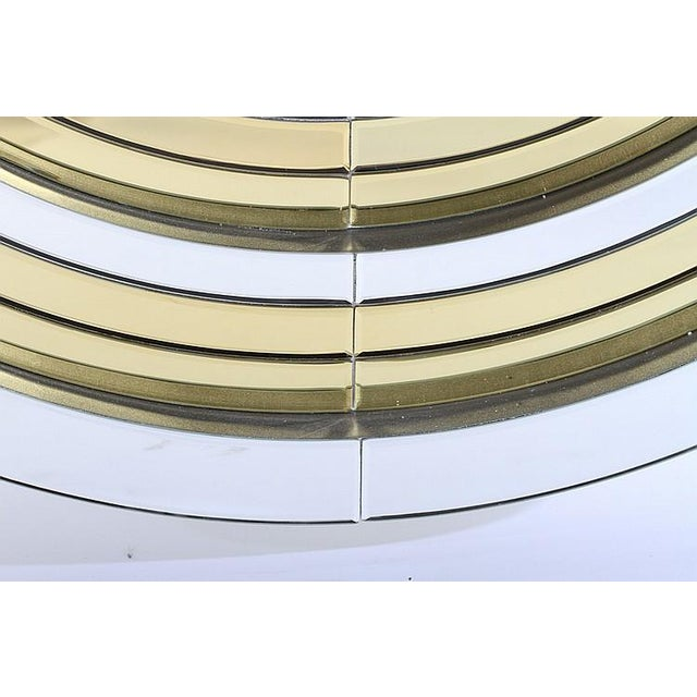 Mid-Century Modern Mid-Century Modernist Round Mirror For Sale - Image 3 of 3