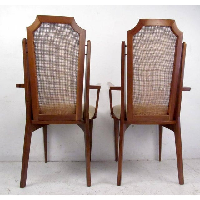 Six Vintage Modern Cane Back Dining Room Chairs | Chairish