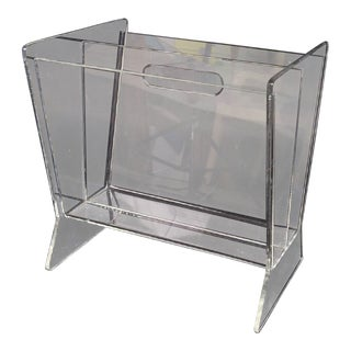 Mid-Century Lucite Magazine Holder