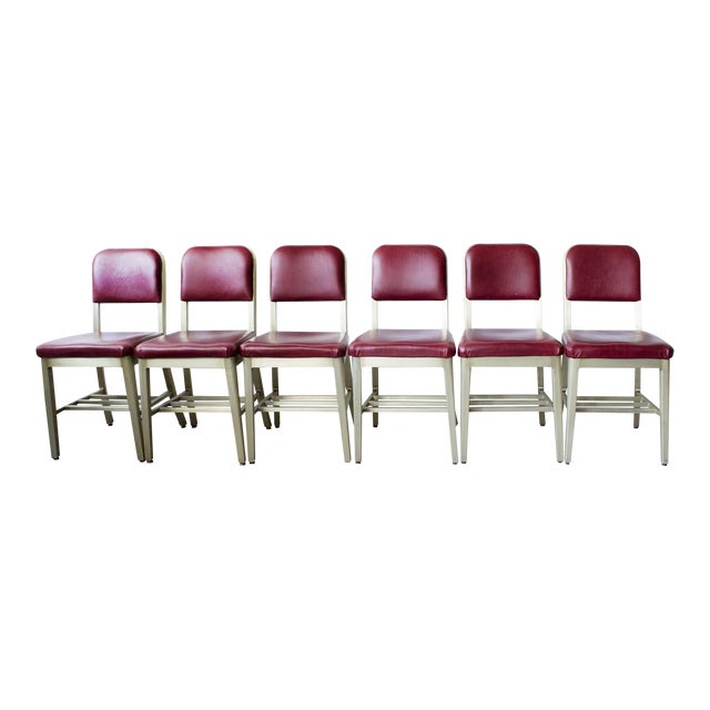 Refinished GoodForm Aluminum Side Chairs - Set of 6 For Sale
