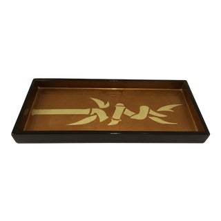 J Fleet Lacquer Ware Tray With Motif