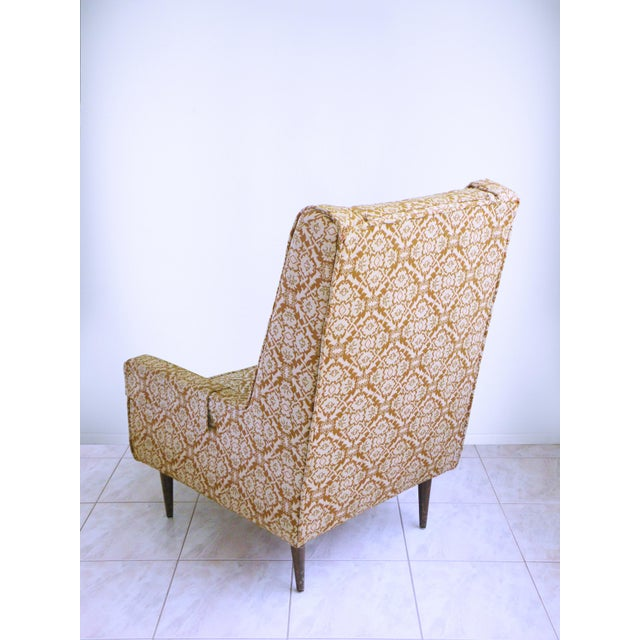 1960s Mid Century Modern Chair Edward Wormley for Dunbar Style High Back Lounge Chair For Sale - Image 5 of 7