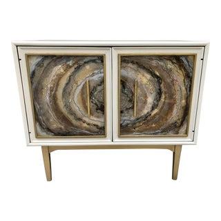 Vintage Drexel Faux Agate Cabinet for Kipp Stewart For Sale