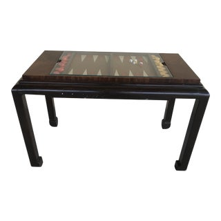 1970s Mid Century Modern Ming Leg Backgammon Console Table For Sale