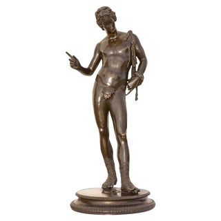 20th Century Grand Tour Classical Bronze Sculpture of Narcissus For Sale