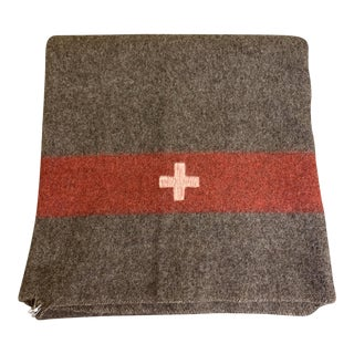 Vintage Swiss Army Blanket For Sale