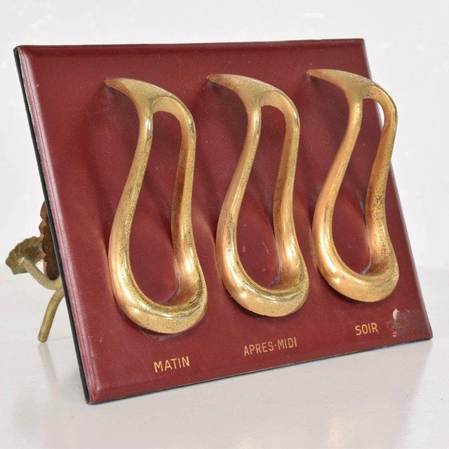 Mid-Century Leather and Brass Pipe Holder, France, 1960s For Sale In San Diego - Image 6 of 6