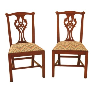 1990s Vintage Henkel Harris Model #101 Cherry Side Dining Chairs- A Pair For Sale