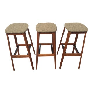 Tarm Stole Og Mobelfabrik of Denmark Bar Stools - Set of 3
