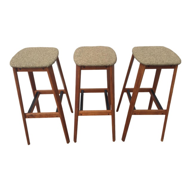 Tarm Stole Og Mobelfabrik of Denmark Bar Stools - Set of 3 For Sale