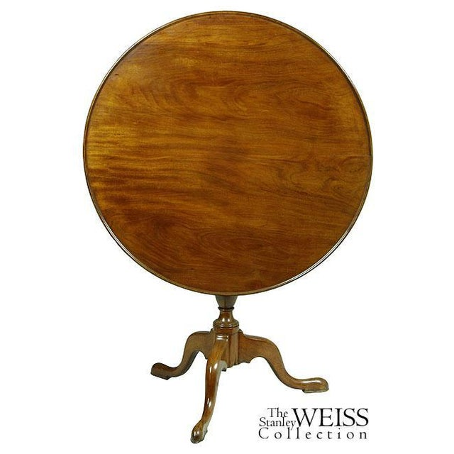 Queen Anne Mahogany Tilt-Top Table With Dishtop, Birdcage, & Urn - Image 4 of 6