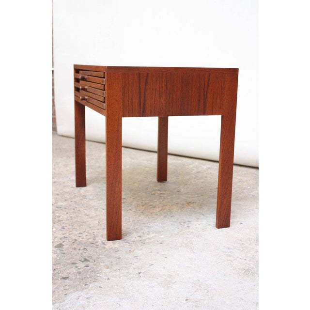 Nest of Three Teak Folding Tables by Illum Wikkelsø - Image 4 of 13