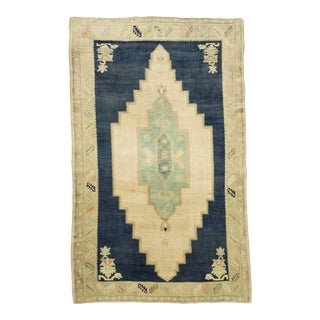 5x7 Vintage Turkish Elegant Oushak Area Rug For Sale