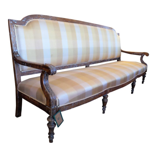 Large French Provincial Upholstered Sofa For Sale
