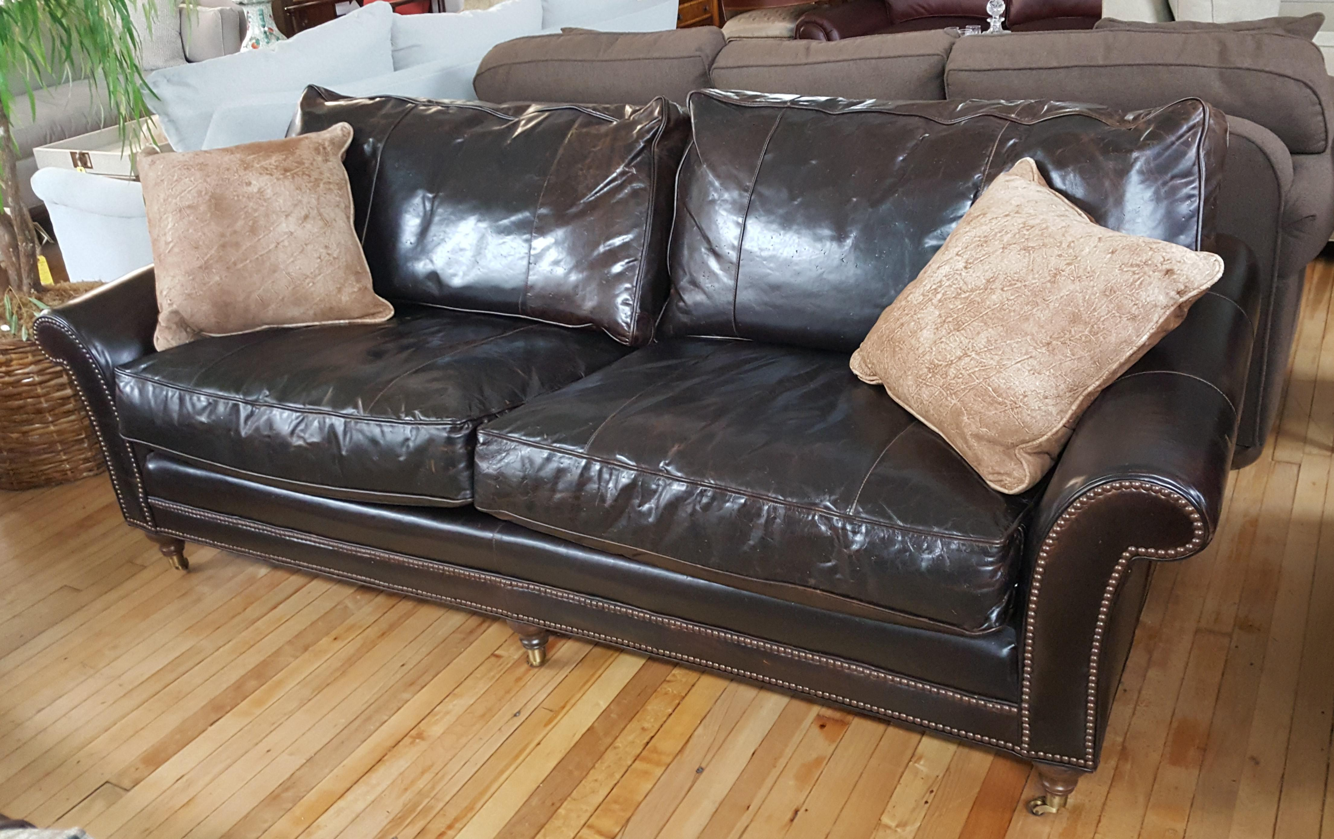 Standford Leather Sofa Was Originally About $13,000. Classic 18th Century  Style. 8 Way Hand