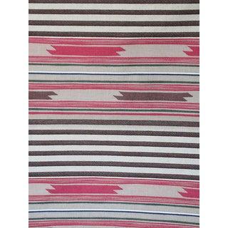 Sample, Scalamandre Cheyenne, Rosso Marrone Fabric For Sale