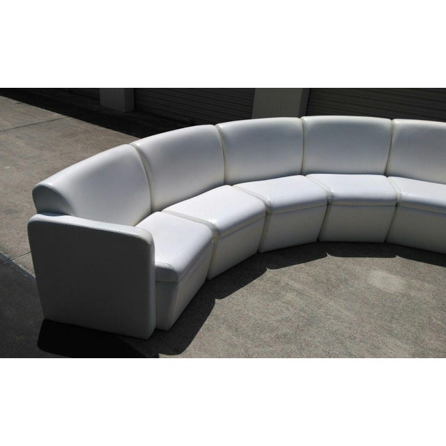 Modern Semi-Circular Modular Sofa Sectional For Sale - Image 4 of 5