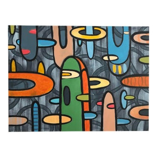 """""""Floaters"""" Contemporary Abstract Acrylic Painting by Hiroshi Ariyama For Sale"""
