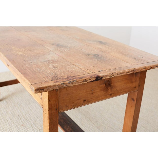 Rustic English Pine Library Table or Farm Table For Sale In San Francisco - Image 6 of 13