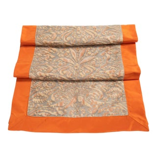 Fortuny Table Runner in Campanelle Design With Border For Sale