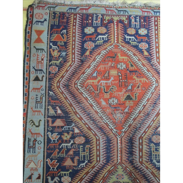 Antique Animal Motif Tabriz Tribal Rug - 4' X 6'11 - Image 6 of 11