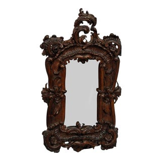 Great Picture Frame With Baroque Style Carvings, Ca. 1920 For Sale