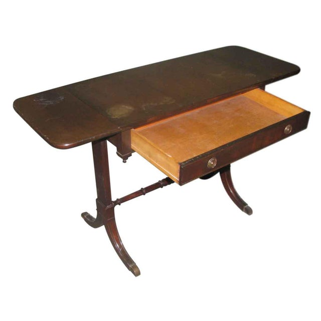 Duncan Phyfe Occasional Drop-Leaf Table For Sale - Image 10 of 10