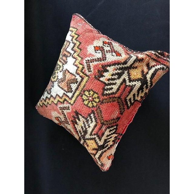 1960s Decorative Vintage Antique Pillow Cover For Sale - Image 5 of 8